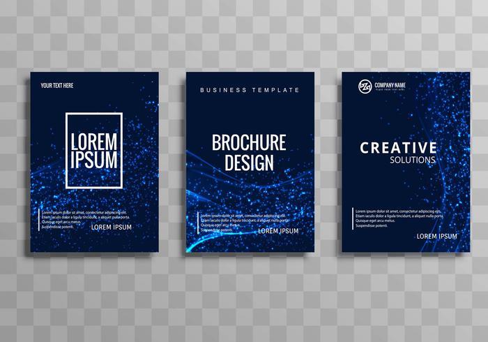Progettazione del modello dell'opuscolo di affari blu astratto vettore