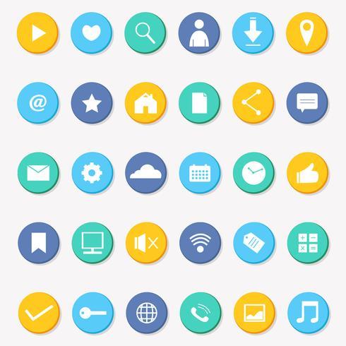 Social Media Icon Sammlung Vektor