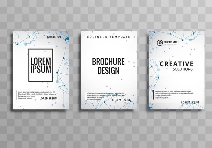 Conjunto de brochura de negócios criativos abstrata