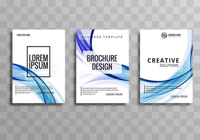 Abstrait coloré vague buisness brochure modèle défini