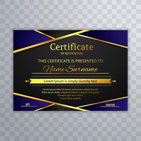 Design elegante modelo de certificado bonito