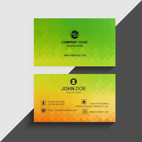 Design de modelo de cartão colorido abstrato