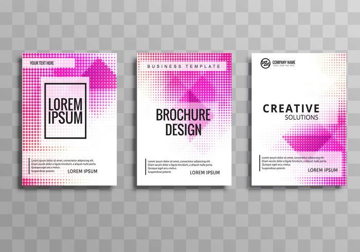 Modern business brochure template illustration design