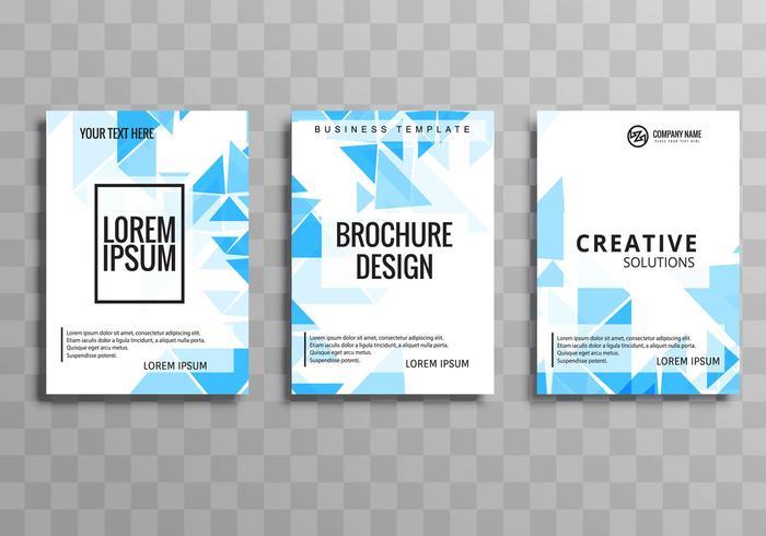 Sjabloon voor abstract zakelijke brochure blauwe veelhoek sjabloon