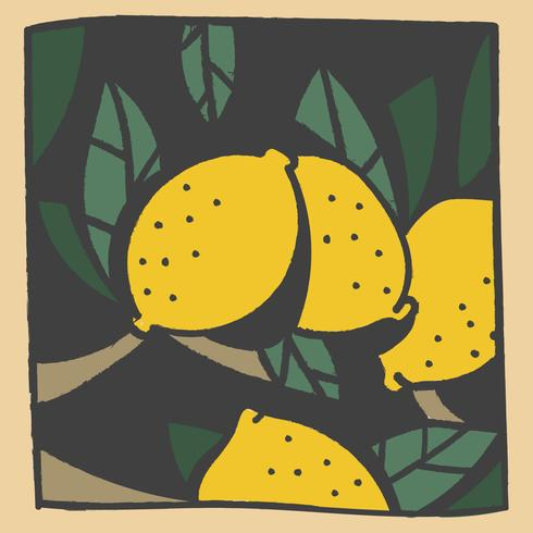 vintage doodle citroen vector