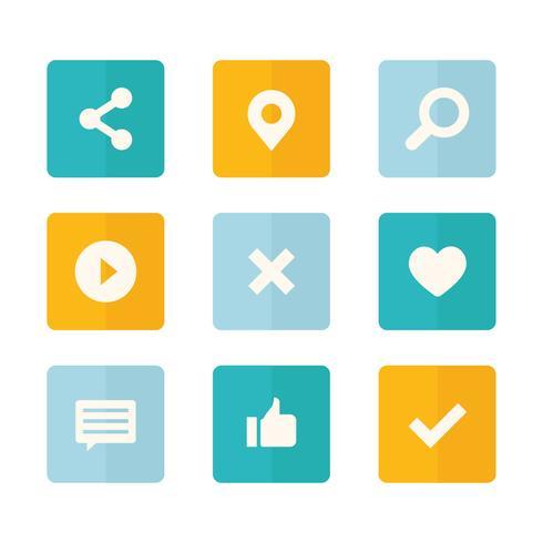 Conjunto de ícones de mídia social coleção