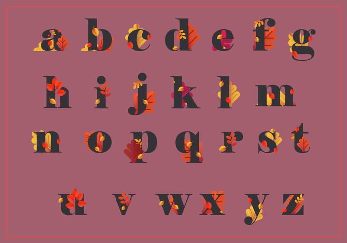 Autumn Alphabet and Autumn Season Illustration