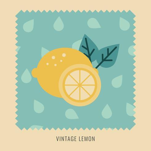 Platte ontwerp illustratie van een Vintage citroen