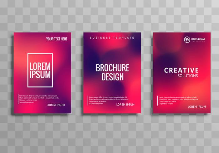 Abstract colorful business brochure set design vector