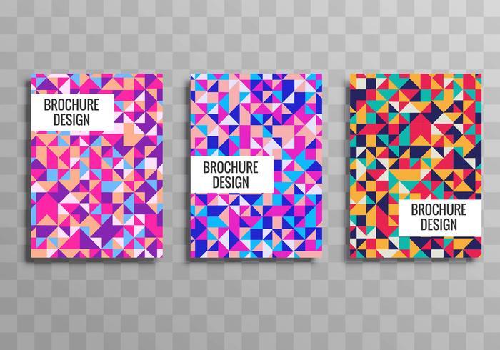Vetor de modelo de folheto colorido geométrico empresarial