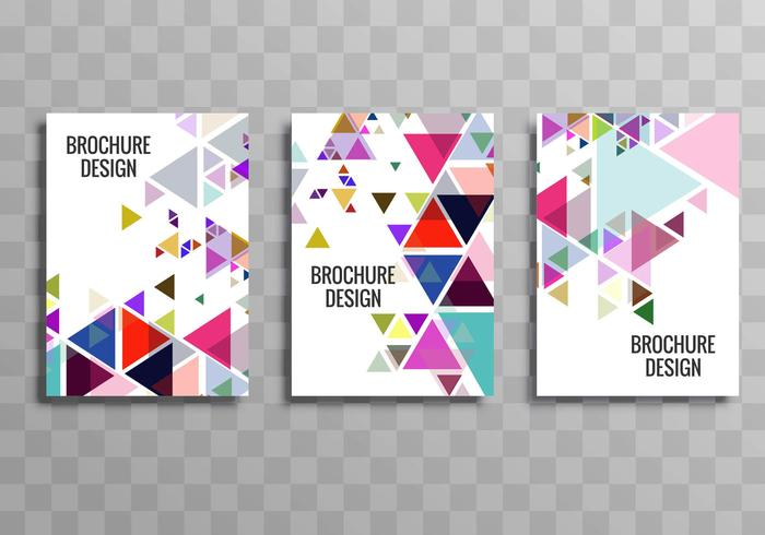 Design de modelo de folheto abstrato colorido buisness vetor