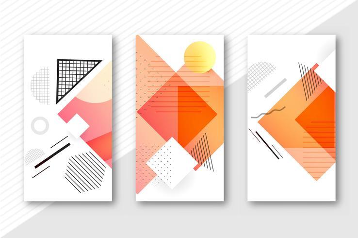 Bandeiras geométricas abstratas definir ilustração vetorial de modelo