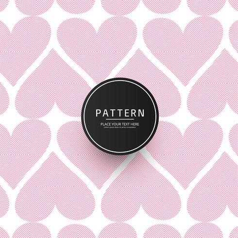 Modern geometric pattern stripes hearts background