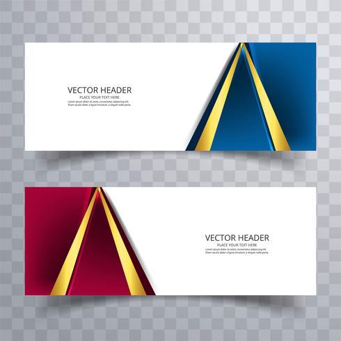 Ensemble de modèles de bannière. Design abstrait moderne