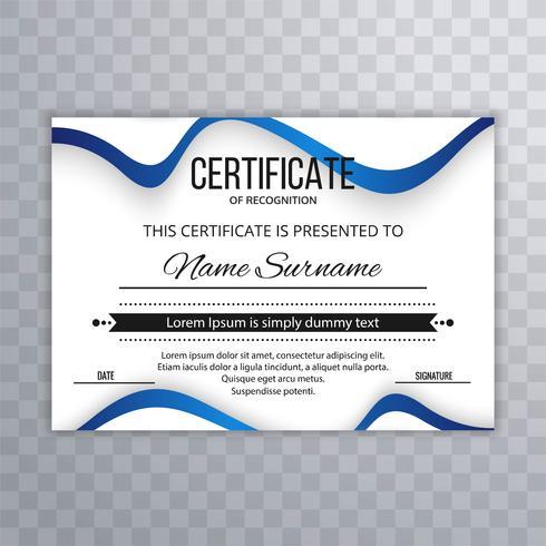 Zertifikat Premium-Vorlage verleiht Diplom mit Wave Illustrati