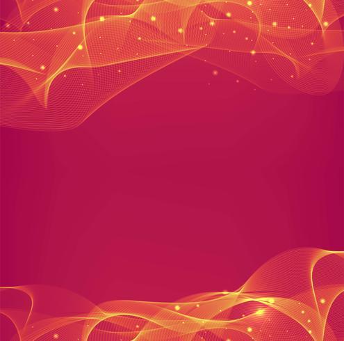 Fundo abstrato linda onda vermelha vetor