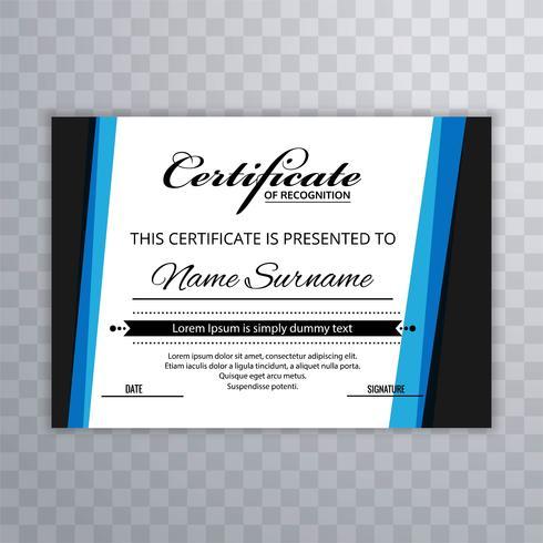 La plantilla de Certificado Premium premia el diseño creativo del diploma