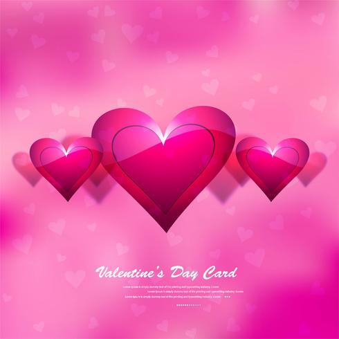 Beautiful Valentine's background design vector