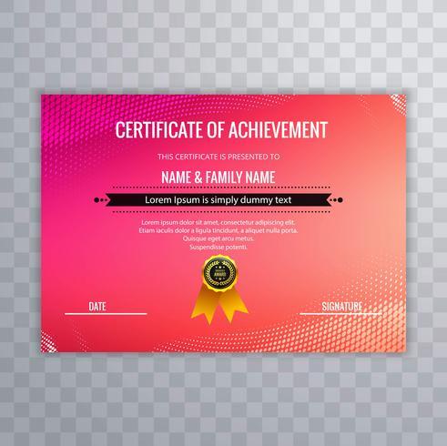 Abstract creatief certificaat van waardering award sjabloon