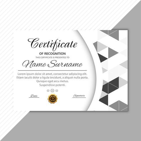 Fondo geométrico de plantilla de certificado moderno