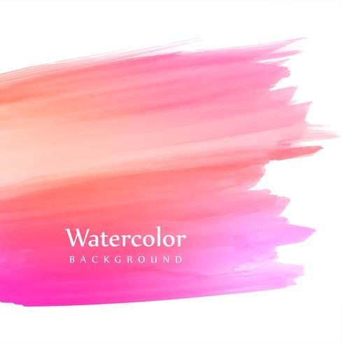 Suave colorido mano dibujar trazo de fondo acuarela