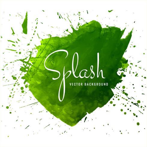 Moderne hand getrokken groene van de waterverfplons vector als achtergrond