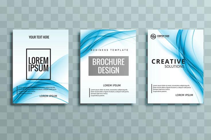 modern business brochure set