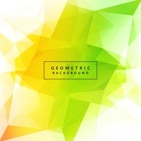 Vecteur de conception beau polygone coloré vert