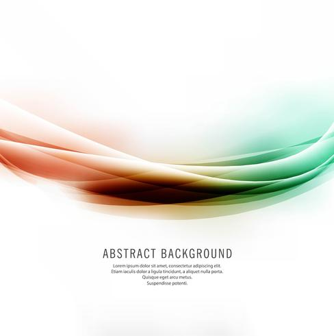 Fundo de onda colorido brilhante lindo abstrato