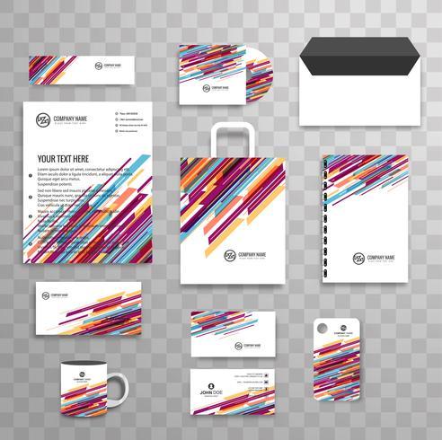 Abstrakte klassische Unternehmensidentität-Geschäftsbriefpapierschablone