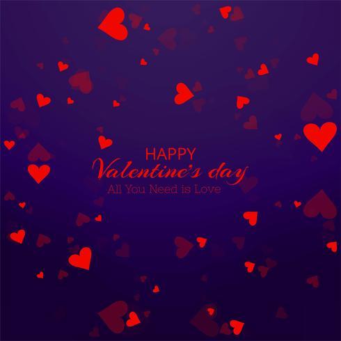 Tarjeta de San Valentín hermosa del corazón vector