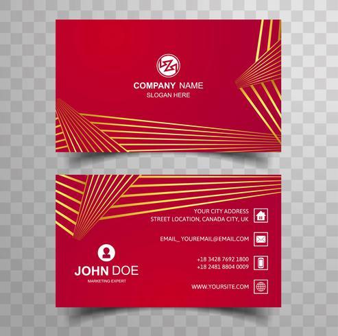 Creatieve en schone Sjabloon voor dubbelzijdig visitekaartjes