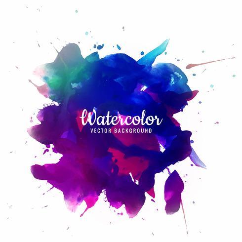 Belo traçado de pincel para design e brushe aquarela colorida