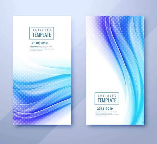 Set-Design des abstrakten Geschäftsschablonen-Titels