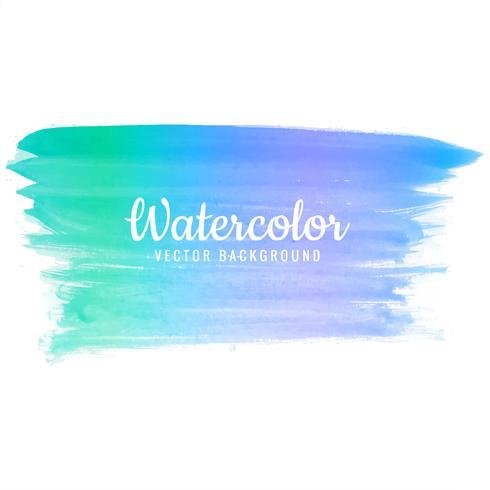 Mooie aquarel kleurrijke streek ontwerp vector