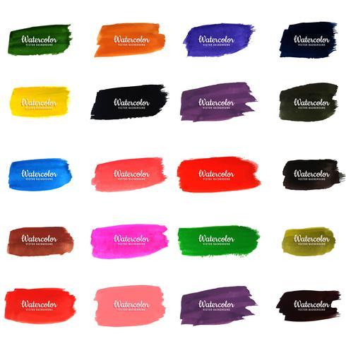 modern watercolor strokes set vector