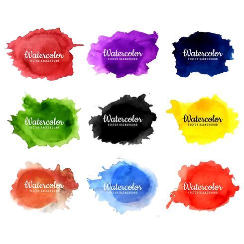 fundo aquarela colorido moderno