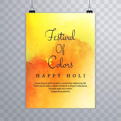 Folheto de Holi colorido de modelo para o projeto de celebração de Holi