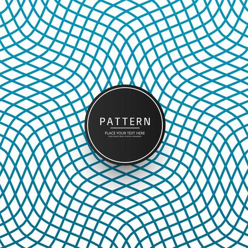 Moderne geometrische blauwe patroon elegante vector