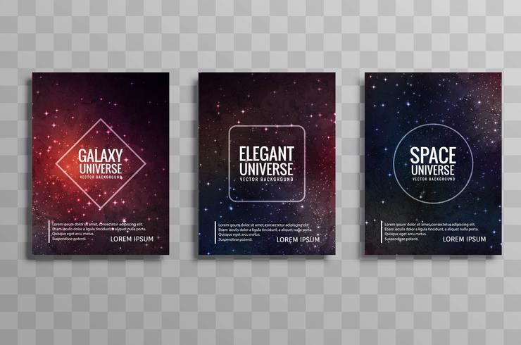 Diseño de folleto de estilo moderno elegante galaxia estilista