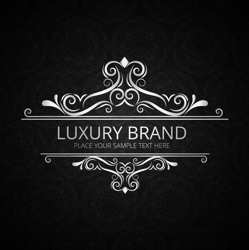 Design de marca de luxo vintage brilhante abstrato
