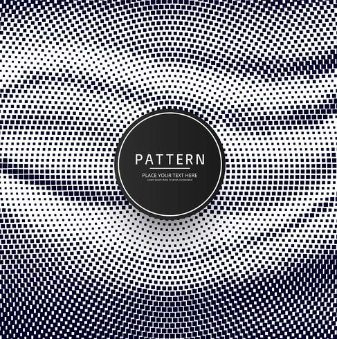 Modern halftone dots pattern design vector