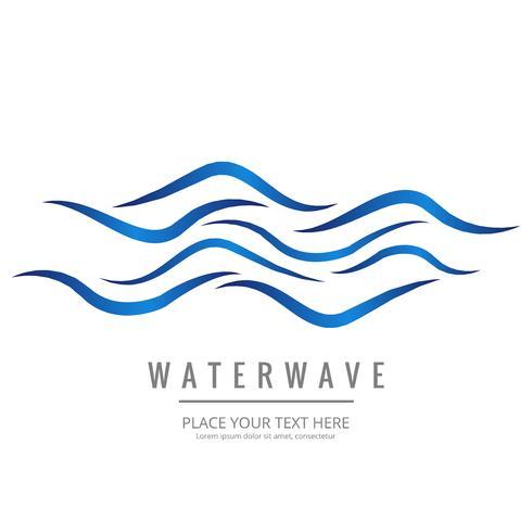 Fundo de onda de água moderna