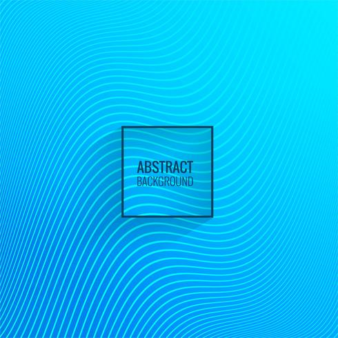 Vetor de fundo abstrato onda azul linha