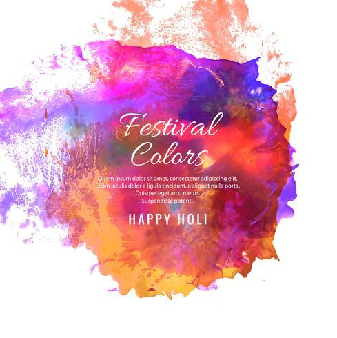 Happy Holi Indian festival de primavera de colores saludo vector illu
