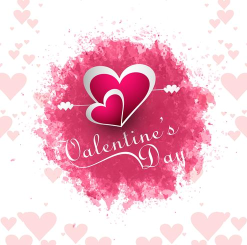 Happy Valentine's day Greeting Card pink background vector