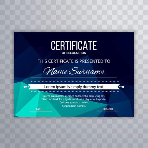 Certificate Premium template awards diploma colorful polygon des