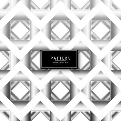 Vetor de desenho de padrão sem emenda de linhas geométricas