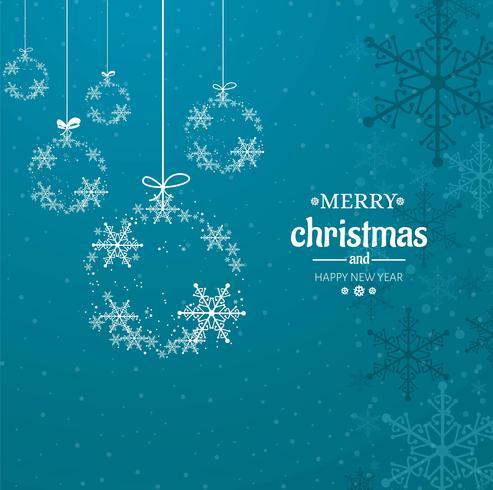Moderner Hintergrund der frohen Weihnachten