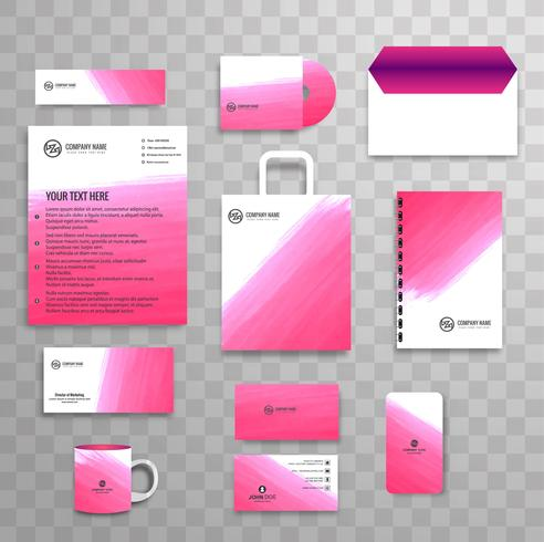 Modelo de papelaria de negócios clássico identidade corporativa abstrata